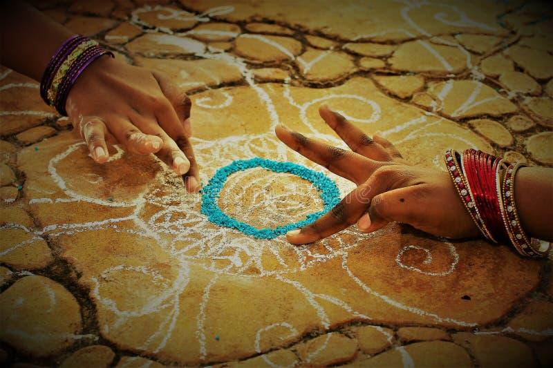 Festival de récolte de festival de Pongal consacré au dieu soleil photographie stock