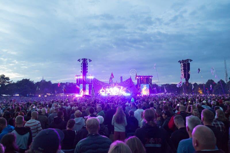 Festival 2016 de Roskilde - concert orange d'étape photos libres de droits
