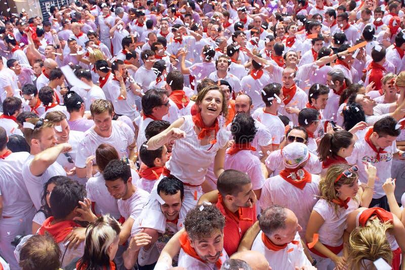 Festival de San Fermín en Pamplona foto de archivo
