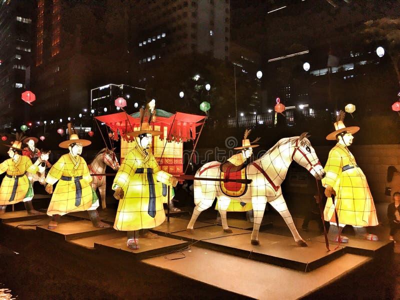 Festival 2016 de Seoul Latern em Cheonggye foto de stock royalty free