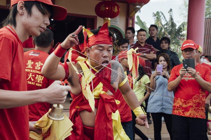 Festival de Singkawang Tatung imagenes de archivo