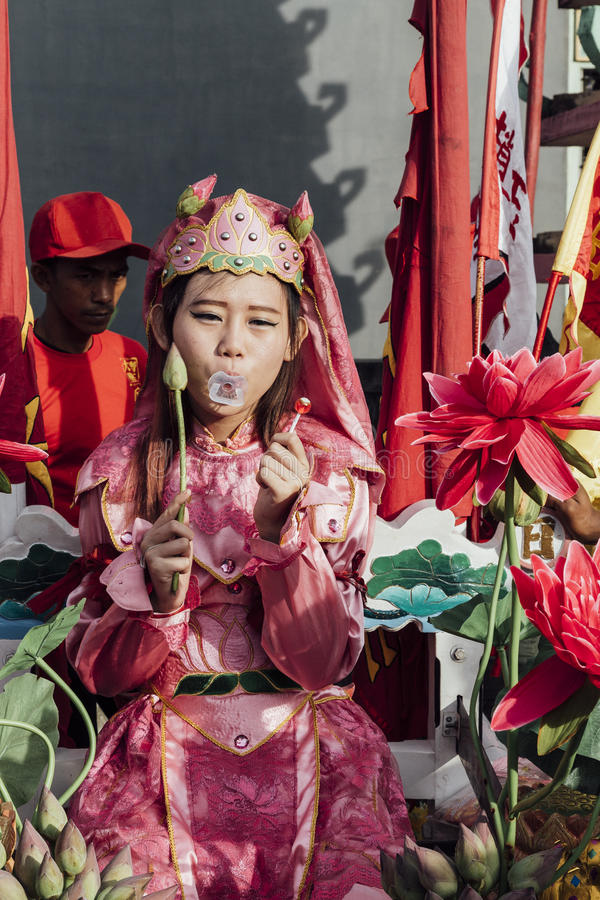 Festival de Singkawang Tatung photographie stock libre de droits