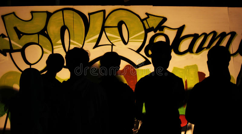 Festival de solo erval dos grafittis fotografia de stock