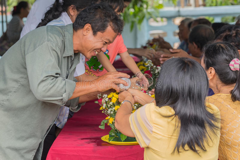 Festival de Songkran imagens de stock royalty free