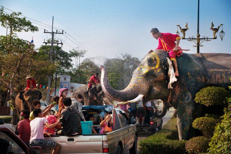 Festival de Songkran foto de stock royalty free