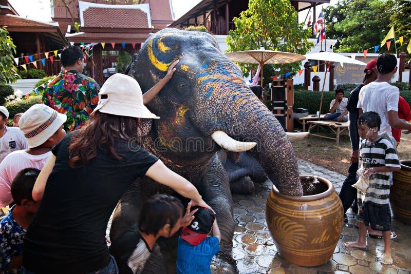 Festival de Songkran photo libre de droits