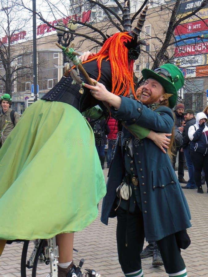 Festival de St Patrick, Moscou photographie stock