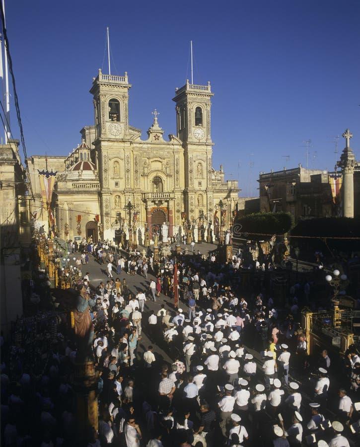 Festival de St Philip, Zebbug, Malte image stock