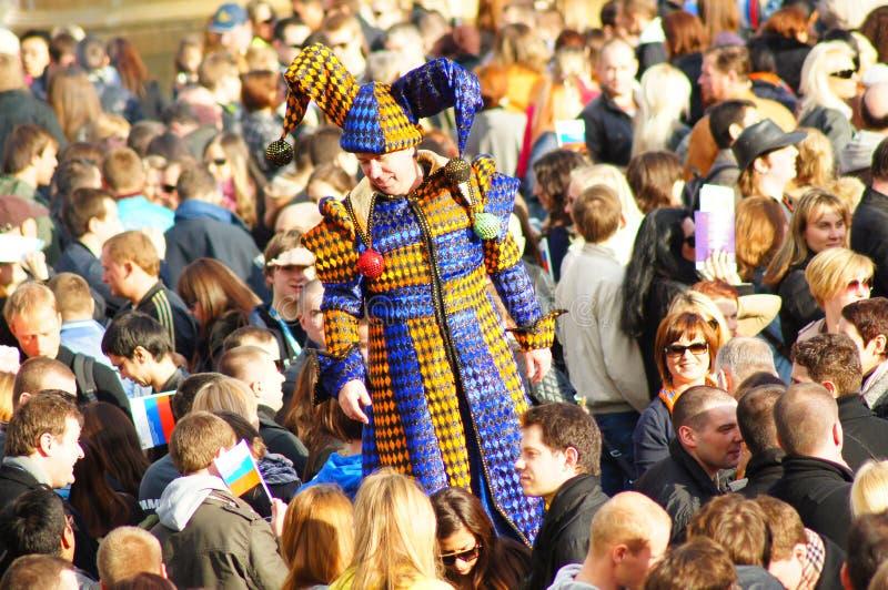 Festival de Sun do russo de Maslenitsa em Londres imagens de stock royalty free