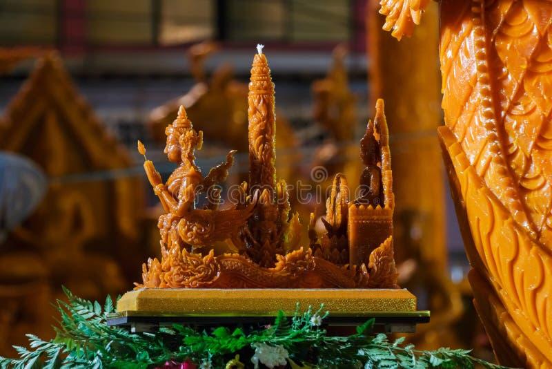 Festival de Tailândia da estátua da cera imagem de stock royalty free