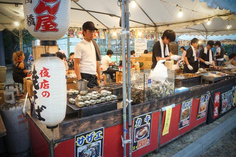 Festival de Tenjin, Osaka, Japón imagen de archivo