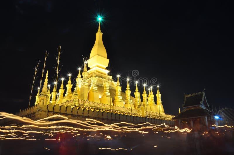 Festival de Thatluang no Lao PDR de Vientiane fotos de stock royalty free