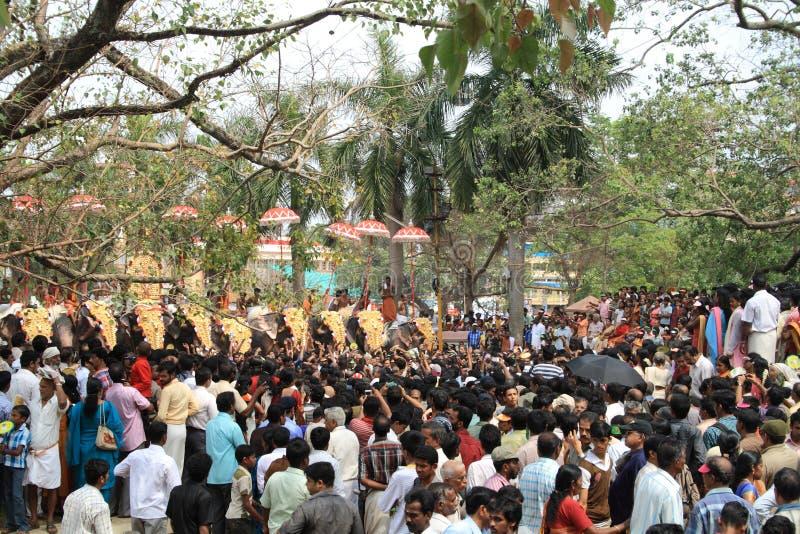 Festival de Thrissur Pooram imagenes de archivo