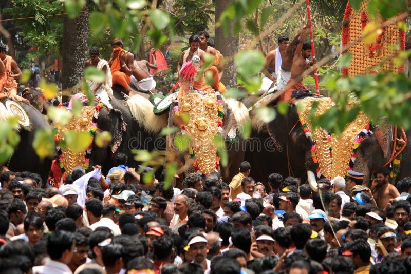 Festival de Thrissur Pooram image stock