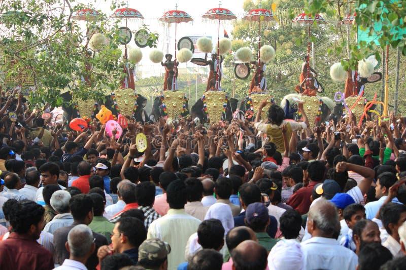 Festival de Thrissur Pooram images libres de droits