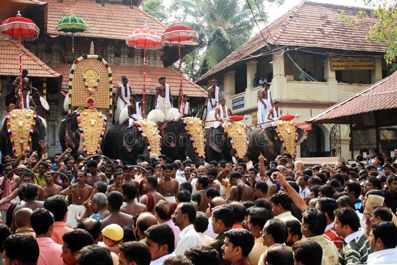 Festival de Thrissur Pooram photo libre de droits