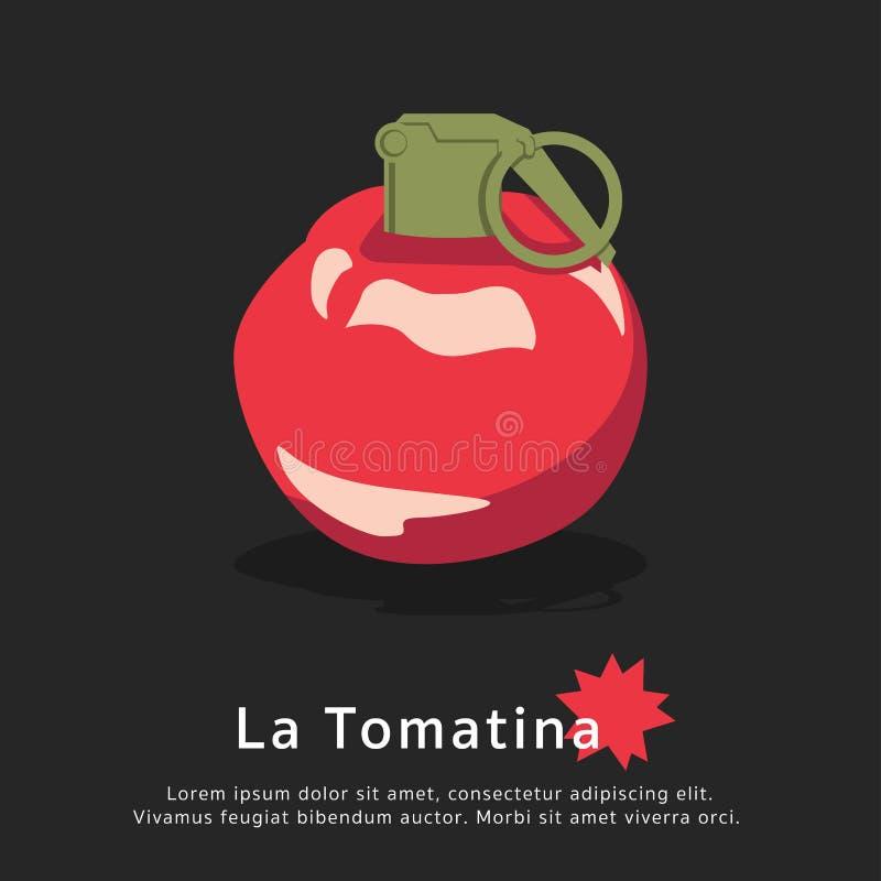 Festival de tomate de tomatina de La illustration de vecteur
