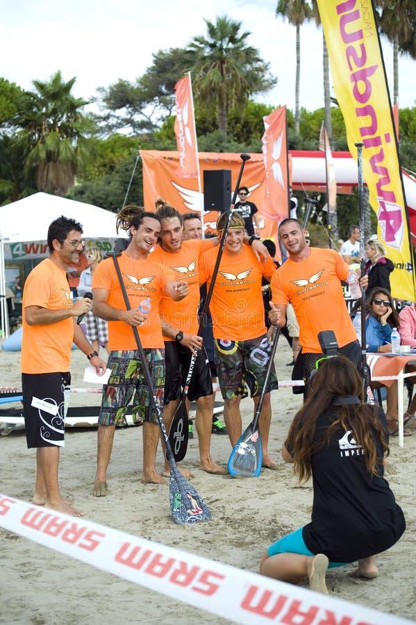 Festival 2013 de vent - marina de Diano image stock