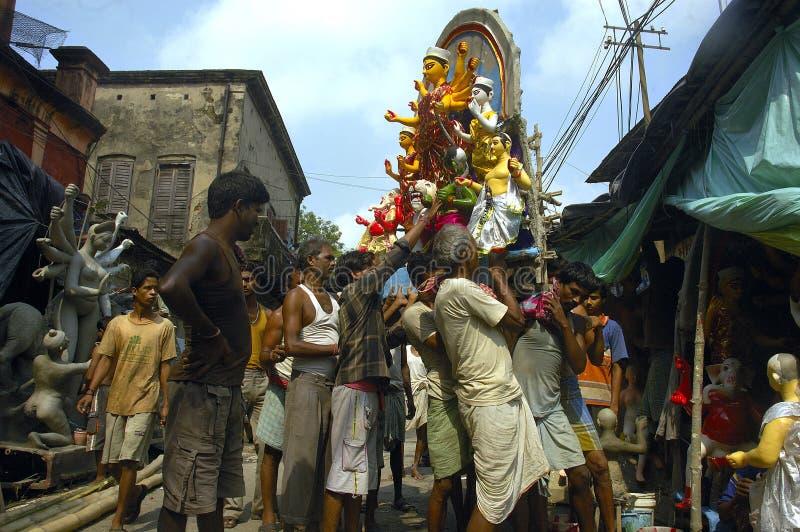 Festival degli Idoli-Durga dell'argilla dell'India fotografie stock
