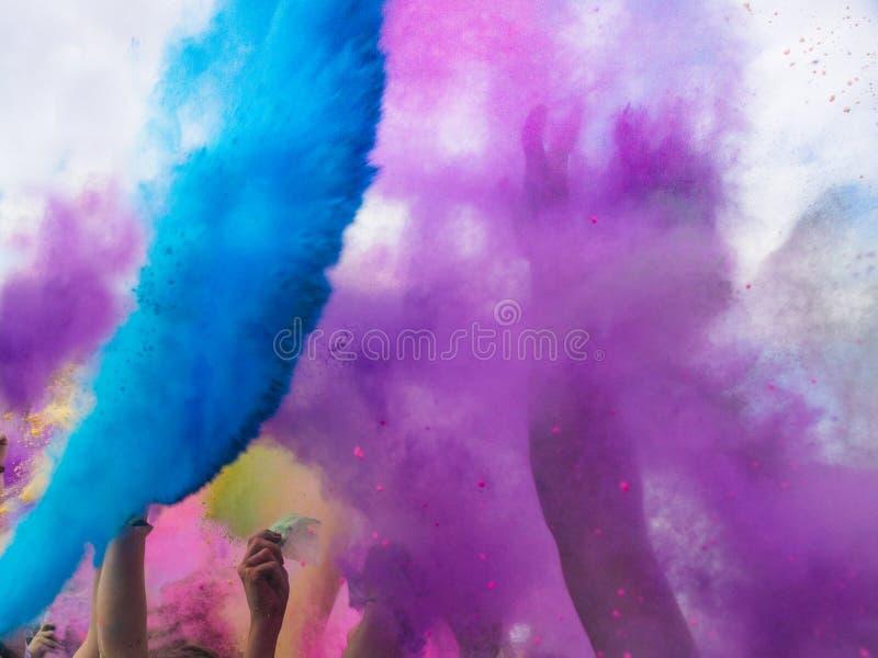 Festival dei colori, India di Holi fotografia stock libera da diritti