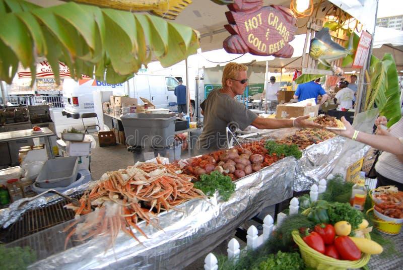 Festival dei frutti di mare dalla spiaggia immagini stock libere da diritti