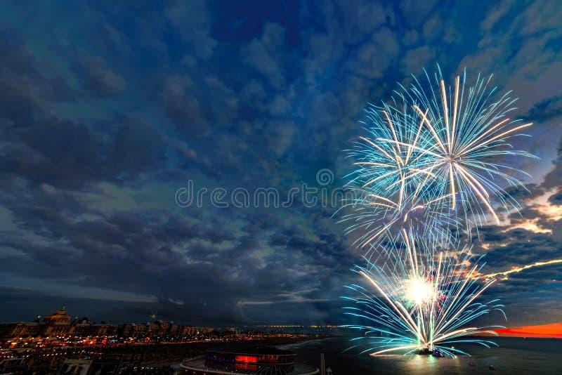 Festival 2017 dei fuochi d'artificio fotografia stock