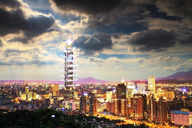 Festival dei fuochi d'artificio in Taiwan fotografie stock libere da diritti