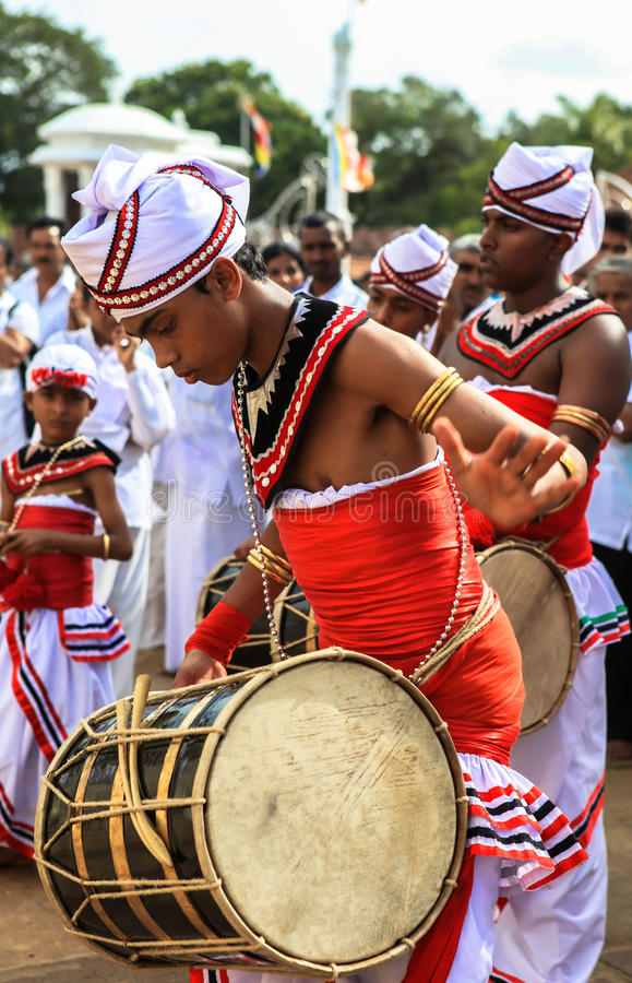 Festival dei pellegrini in Anuradhapura, Sri Lanka immagine stock libera da diritti