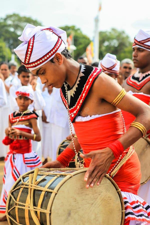 Festival dei pellegrini in Anuradhapura, Sri Lanka immagini stock libere da diritti