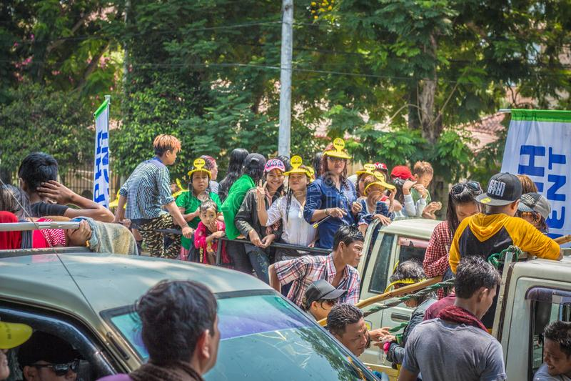 Festival del agua de Asia Myanmar fotos de archivo libres de regalías