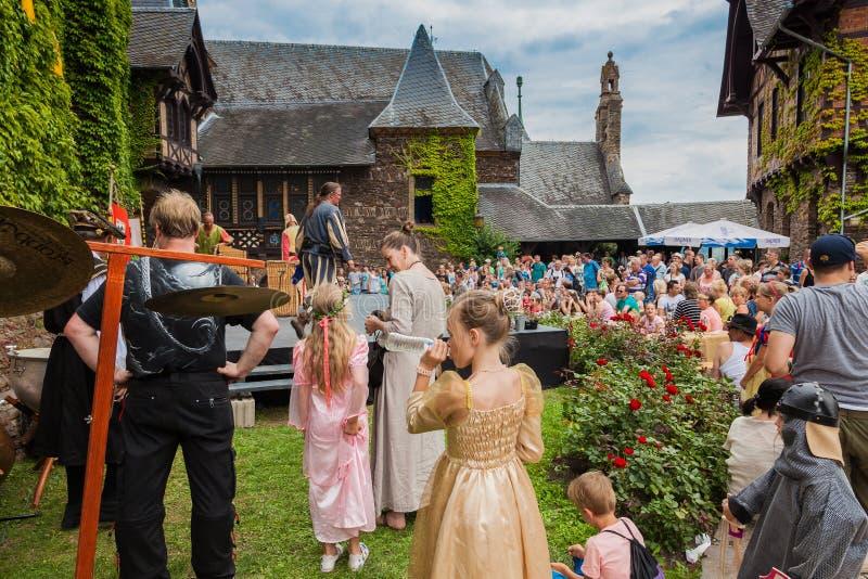 Festival del castello al castello Cochem fotografia stock