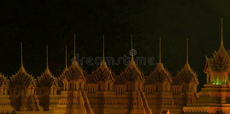 Festival del castello della cera a Sakon Nakon, Tailandia immagini stock