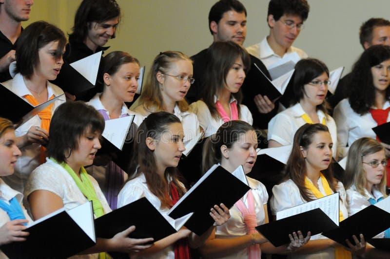 Festival del coro de la juventud foto de archivo libre de regalías
