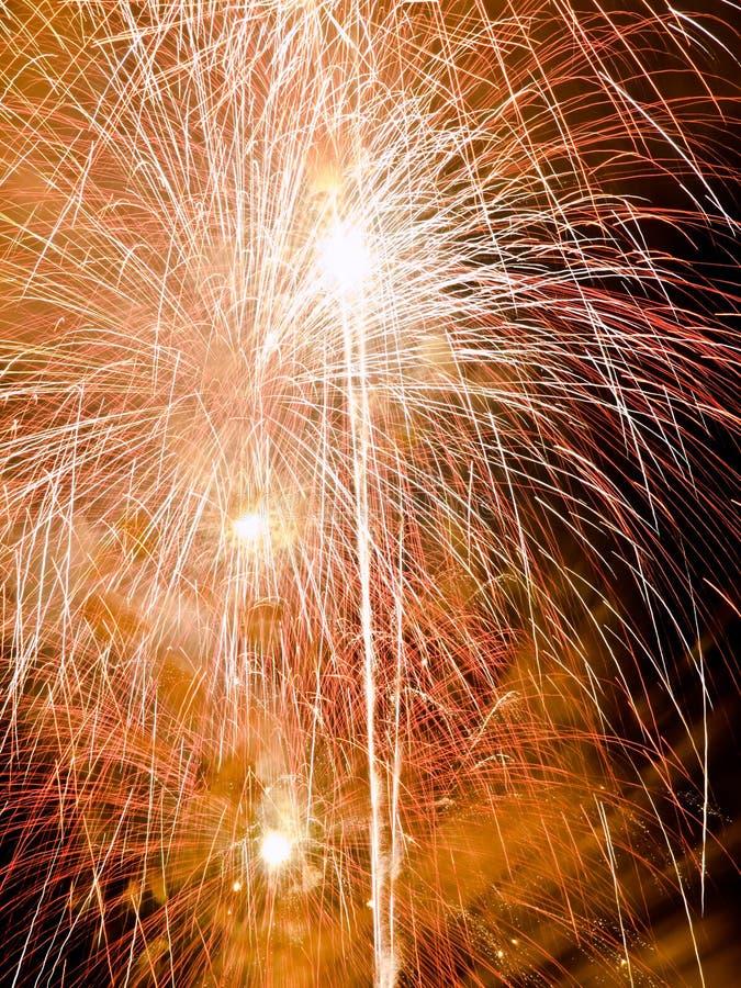 Festival del fuoco d'artificio di estate fotografia stock