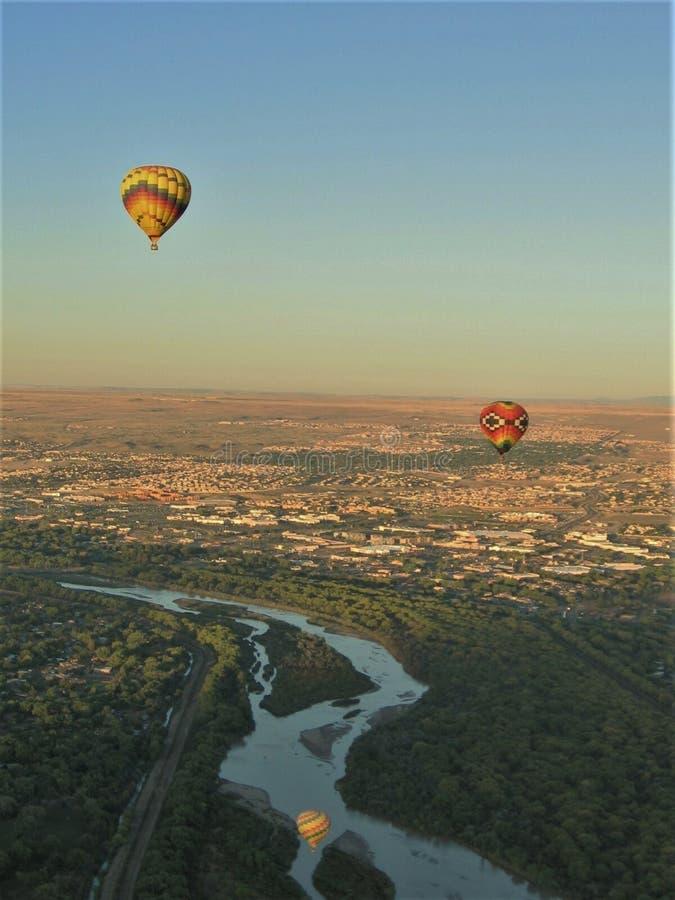 Festival del fuoco della fiamma del materiale di riempimento del lancio della mongolfiera del New Mexico immagine stock