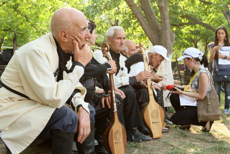 Festival del gene del arte popular en Georgia fotografía de archivo libre de regalías