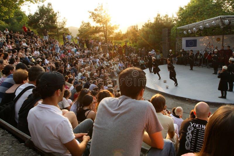 Festival del gene del arte popular en Georgia fotografía de archivo