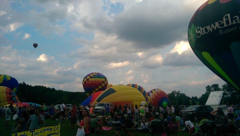 Festival del globo del aire caliente de Stowe imagen de archivo