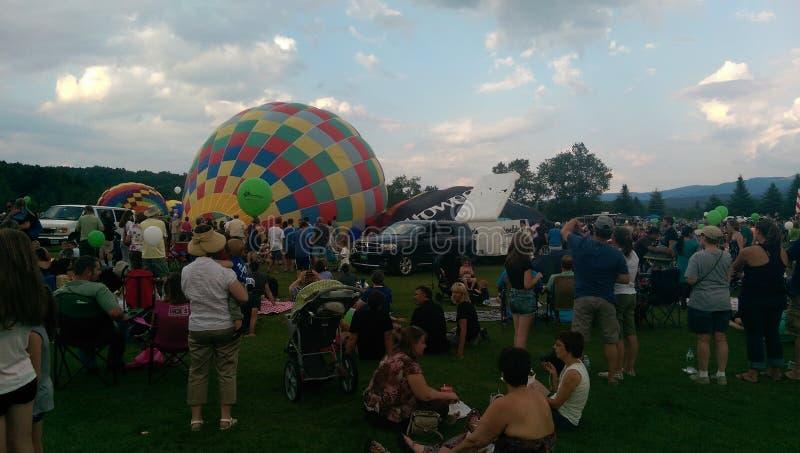 Festival del globo del aire caliente de Stowe foto de archivo libre de regalías