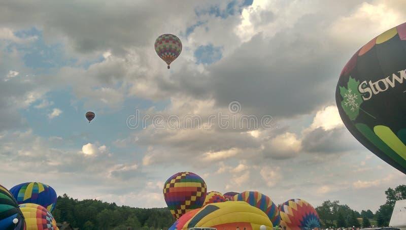 Festival del globo del aire caliente de Stowe fotos de archivo libres de regalías