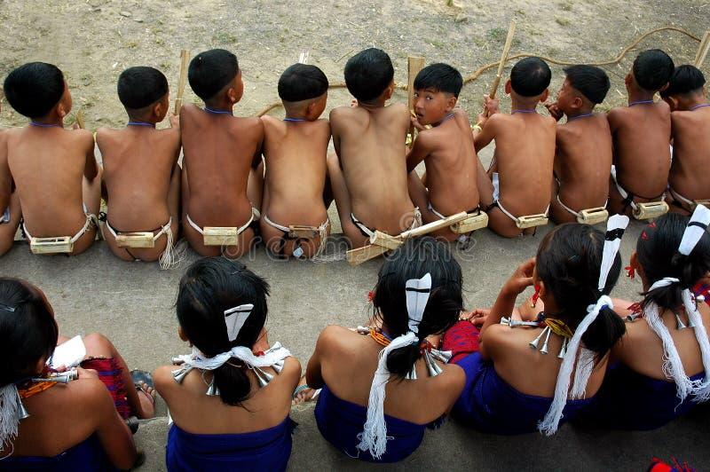 Festival del Hornbill dell'Nagaland-India. fotografia stock libera da diritti
