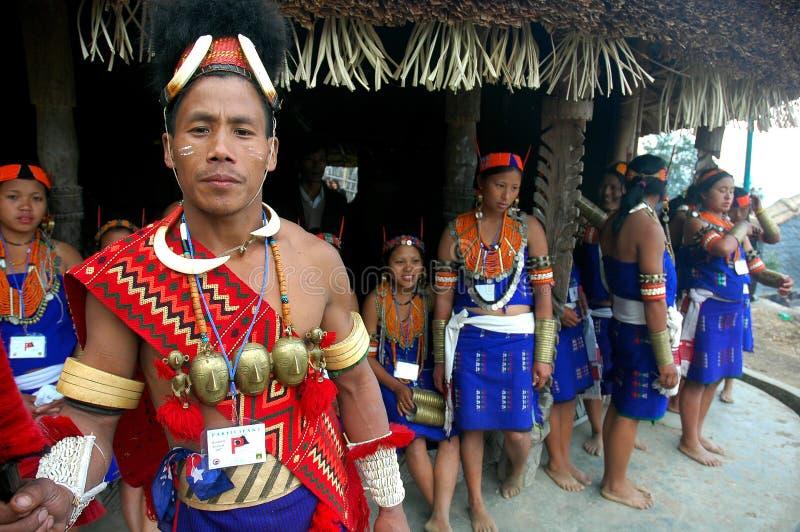Festival del Hornbill dell'Nagaland-India. immagine stock libera da diritti