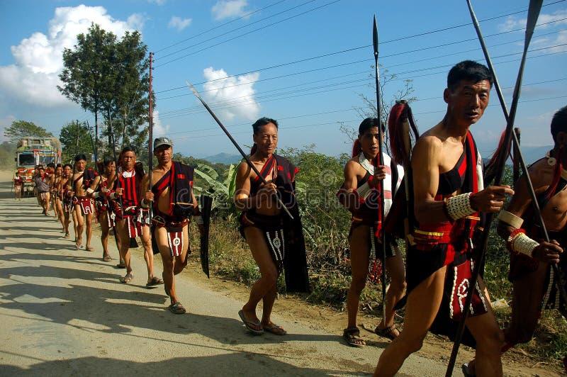 Festival del Hornbill dell'Nagaland-India. immagini stock libere da diritti