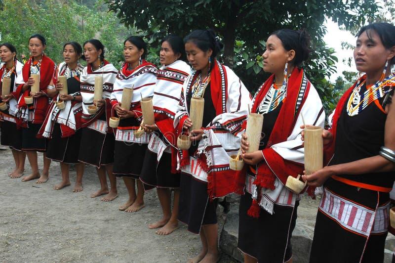 Festival del Hornbill dell'Nagaland-India. immagine stock