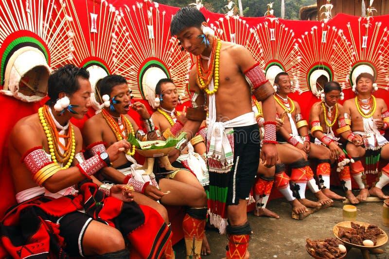 Festival del Hornbill dell'Nagaland-India. fotografie stock