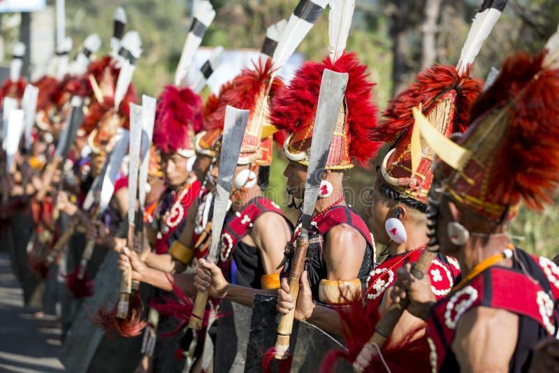 Festival del Nagaland, India del bucero fotografia stock libera da diritti