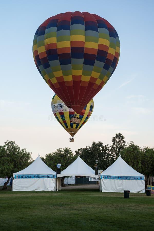 Festival del pallone 2013 e di vino di Temecula immagini stock