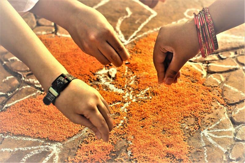 Festival del raccolto di festival di Pongal dedicato al sole Dio immagini stock
