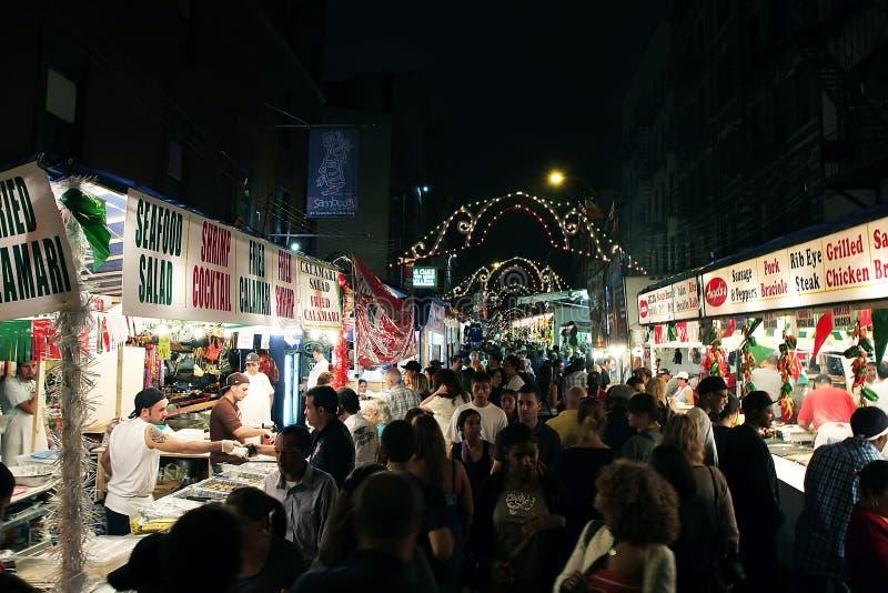 Festival del San Gennaro in NY immagine stock