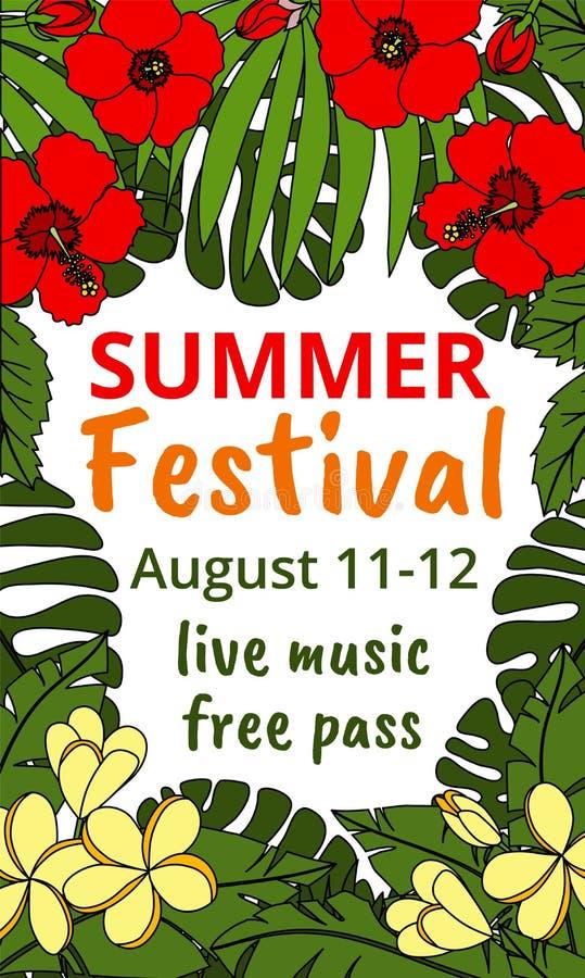 Festival del verano libre illustration